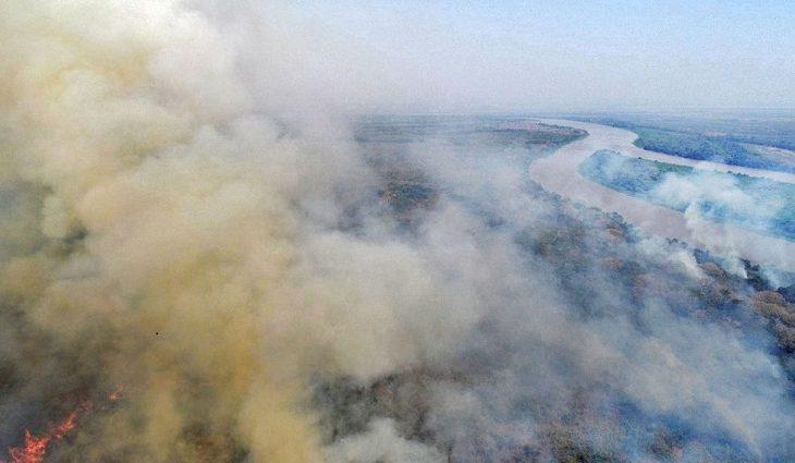 Há uma semana o Governo do Estado decretou emergência ambiental no Pantanal e iniciou a Operação Pantanal II de combate às chamas