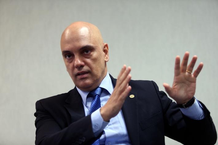 O ministro Alexandre de Moraes determinou o bloqueio dos bolsonaristas