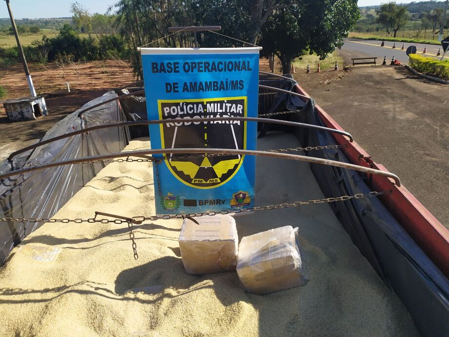 BPMRv apreende 6 toneladas de maconha em carga de arroz no MS