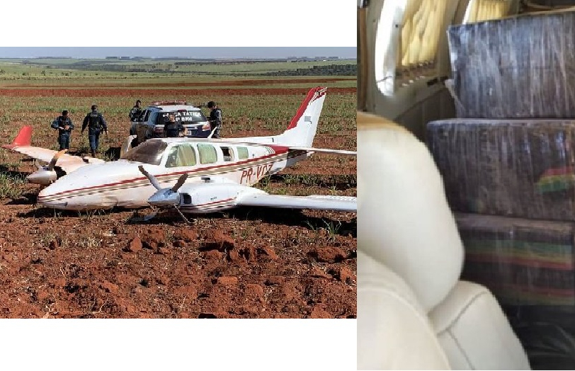 Segundo a polícia, o destino da aeronave era Nova Andradina.