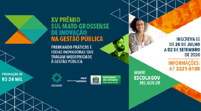 As inscrições podem ser realizadas até o dia 02 de setembro, às 23h59 (horário de Mato Grosso do Sul)