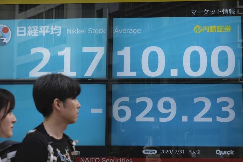 Exceção, a bolsa japonesa ficou no vermelho, pressionada por ações de empresas aéreas e de concessionárias de serviços públicos