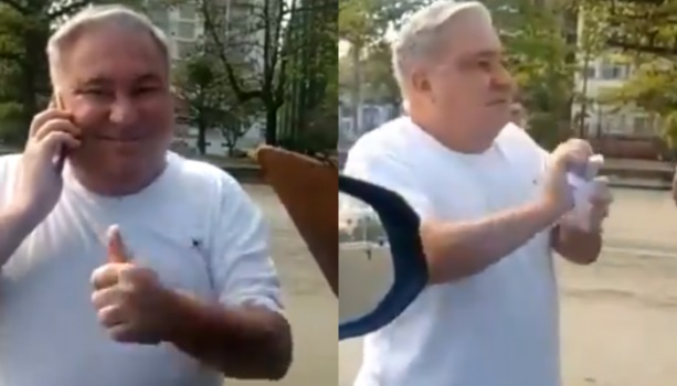 O desembargador Eduardo Siqueira foi flagrado humilhando guarda municipal em Santos.