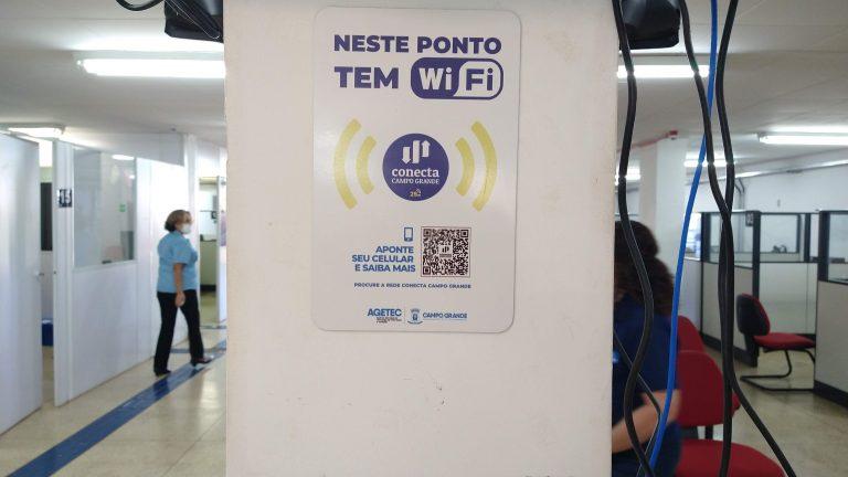 Ponto de wifi conecta campo grande
