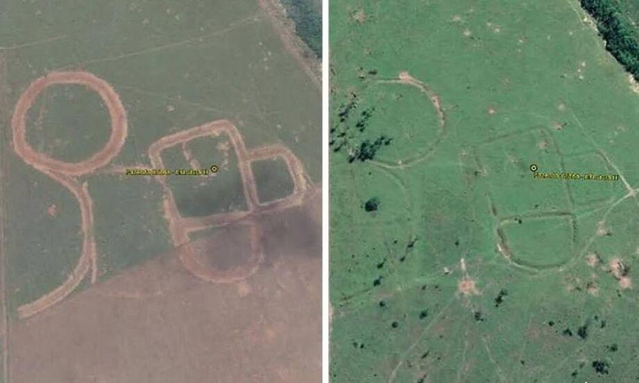 Vestígios arqueológicos possivelmente produzidos pelo homem pré-histórico que viveu na região entre 800 e 2.500 anos atrás foram destruídos por tratores para a plantação de lavouras.