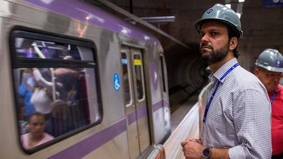 O secretário de Transportes Metropolitanos de São Paulo, Alexandre Baldy.