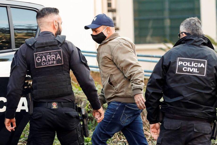 O ex-assessor Fabrício Queiroz no dia em que foi detido pela Polícia Civil de São Paulo