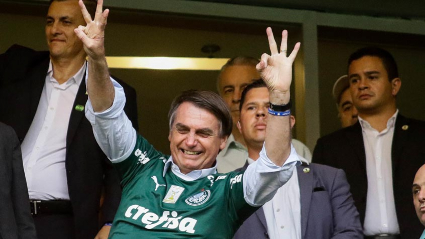 Bolsonaro é torcedor do Palmeiras