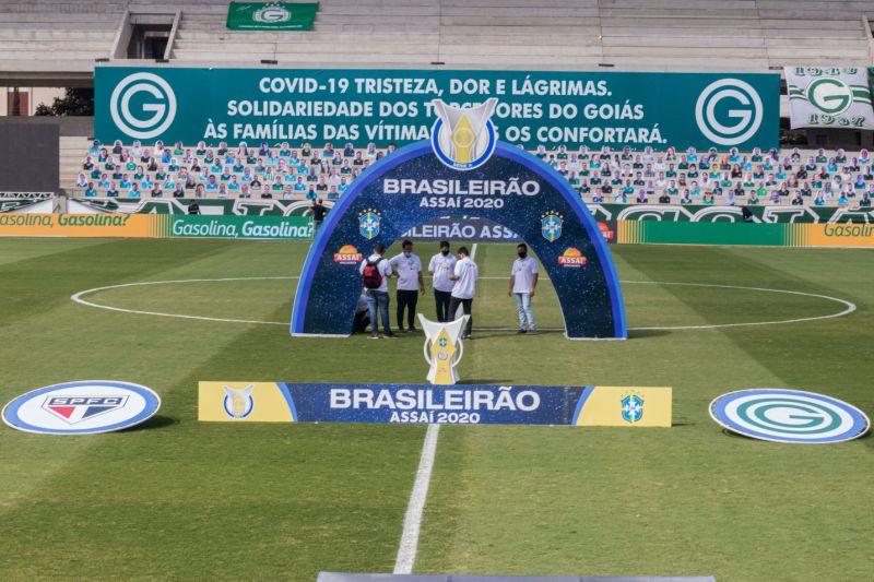 ista geral do estadio Serrinha para partida entre Goias e Sao Paulo pelo campeonato Brasileiro A 2020