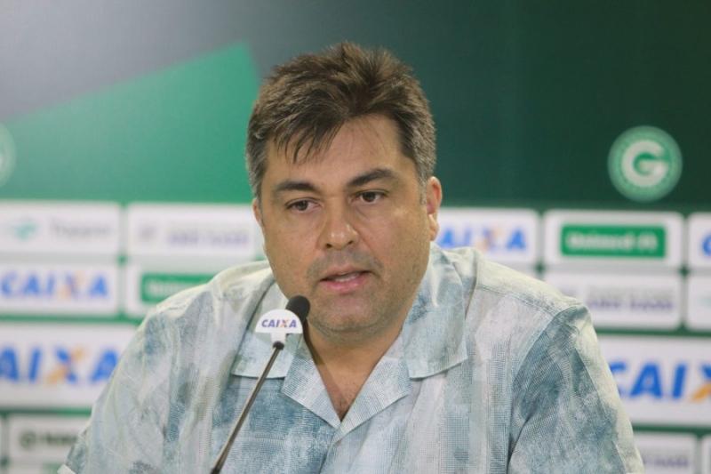 O presidente do Goiás, Marcelo Almeida