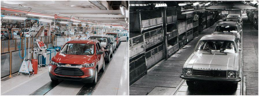 Passado e presente: linha final fábrica de São Caetano do Su