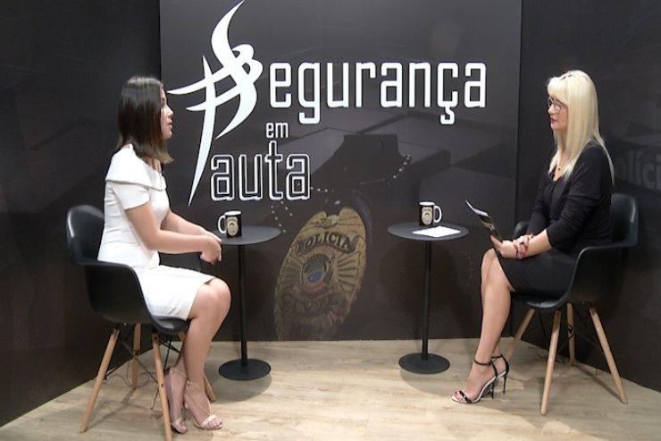 Delegada Allana Zarelli é a entrevistada do programa Segurança em Pauta