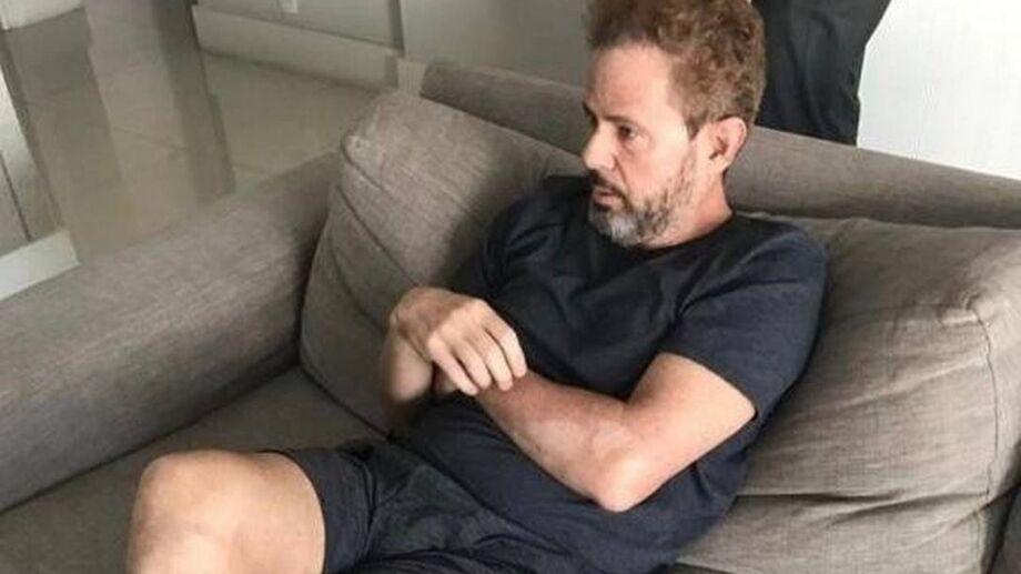 Dario Messer, o 'doleiro dos doleiros', no momento em que foi detido em um apartamento nos Jardins, em São Paulo, no âmbito da Lava Jato