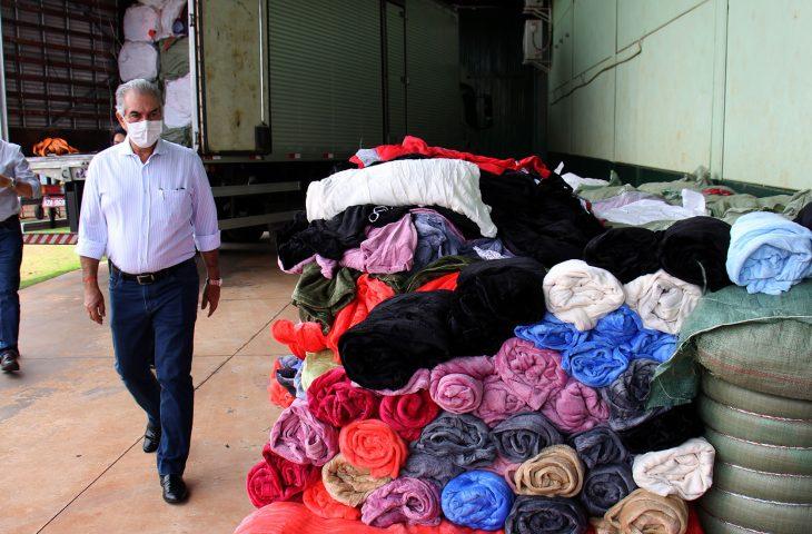 Com recursos do Fundo de Investimento Social (FIS), os cobertores foram adquiridos por R$ 2 milhões - cada unidade saiu por R$ 25.