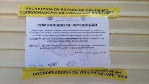 Os locais foram interditados pelos agentes da vigilância sanitária de Paranaíba