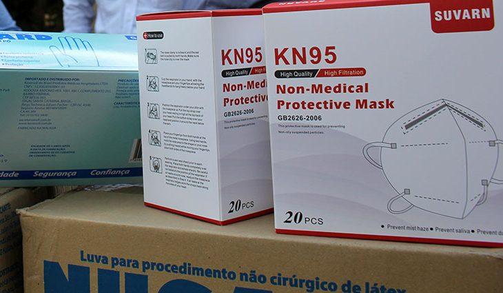 A isenção abrange máscara de proteção, álcool 70%, borrifador, protetor facial
