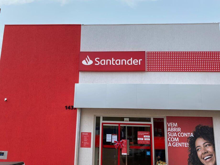 O Santander abre sua primeira agência em Nova Andradina, em Mato Grosso do Sul