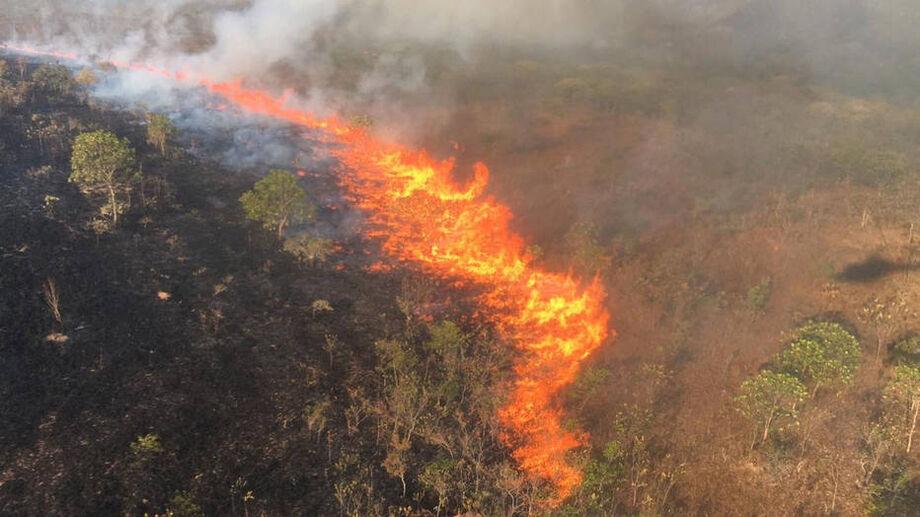 Os Estados de Mato Grosso e Mato Grosso do Sul sofrem com incêndios florestais
