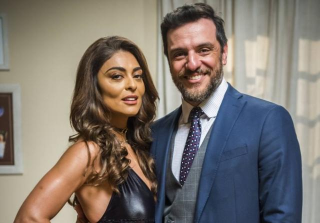 Juliana Paes (Bibi Perigosa) e Rodrigo Lombardi (Caio) em 'A Força do Querer'