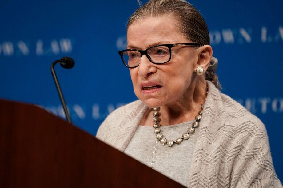 Ruth Bader Ginsburg em Washington DC, em 12 de setembro de 2019
