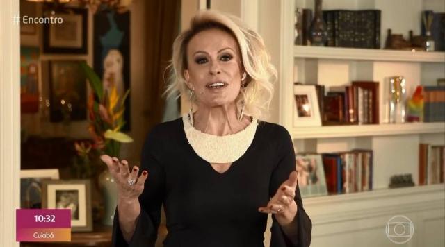 Ana Maria Braga usou colar e brinco feitos de arroz durante programa 'Encontro com Fátima Bernardes'