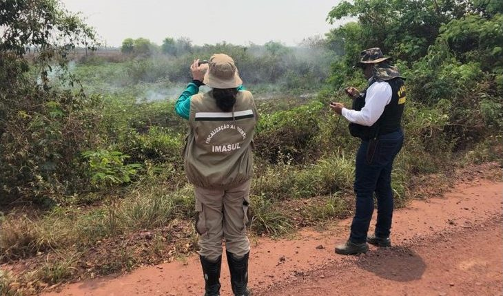 Equipe aguarda agora o laudo pericial que comprove que alguns focos de calor registrados na região começaram nas fazendas vistoriadas