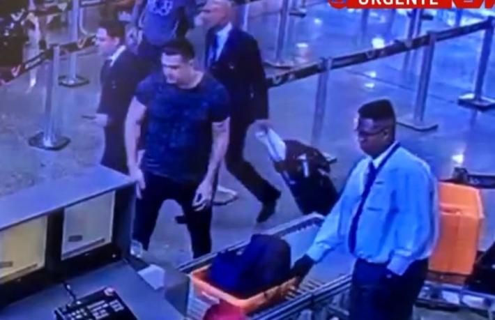 Imagens de câmeras do Aeroporto Internacional Tom Jobim, no último dia 29, mostram embarque de Eduardo Fauzi