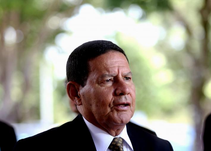 O vice-presidente, Hamilton Mourão
