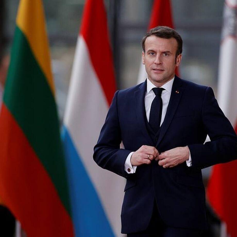 O presidente da França, Emannuel Macron