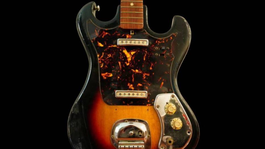 A guitarra de Hendrix Foto: REPRODUÇÃO