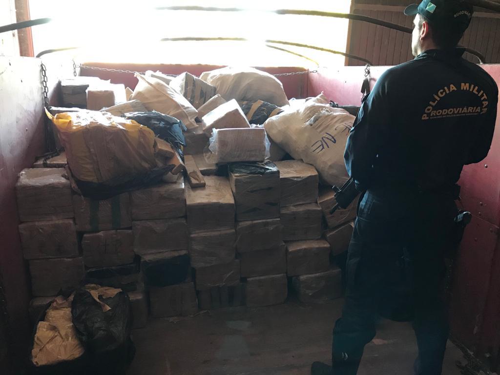 Com esta apreensão a Polícia Militar Rodoviária ultrapassa pela primeira vez em sua história a marca de 100 toneladas de entorpecentes apreendidos em um único ano.