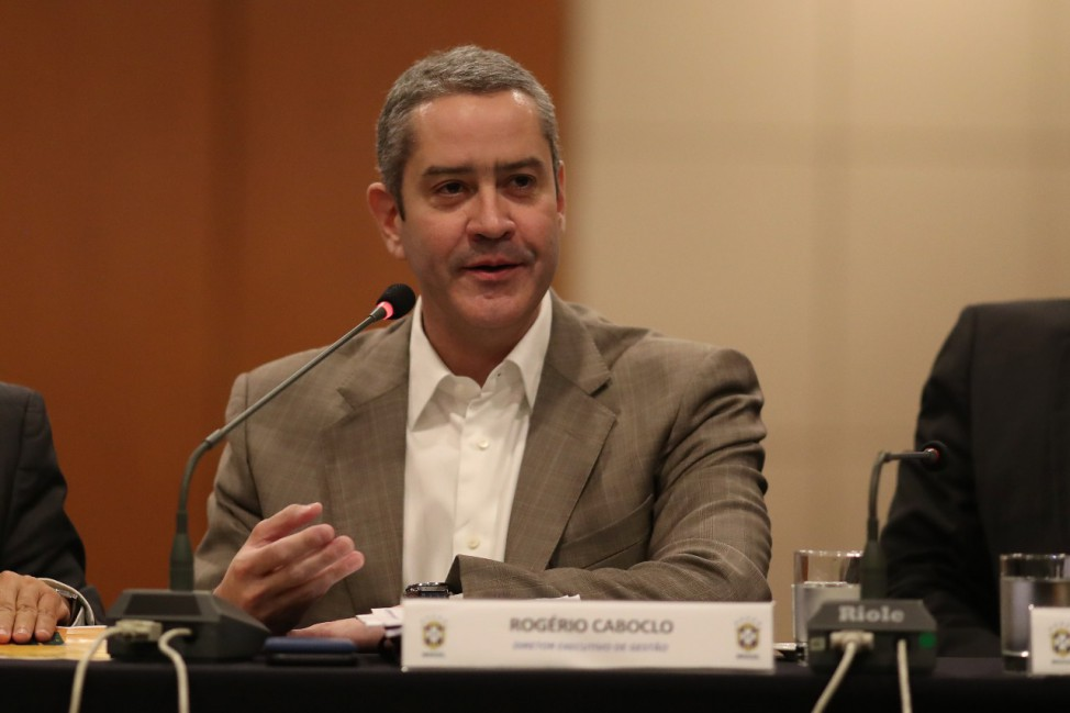 Rogério Caboclo presidente da Confederação Brasileira de Futebol (CBF).