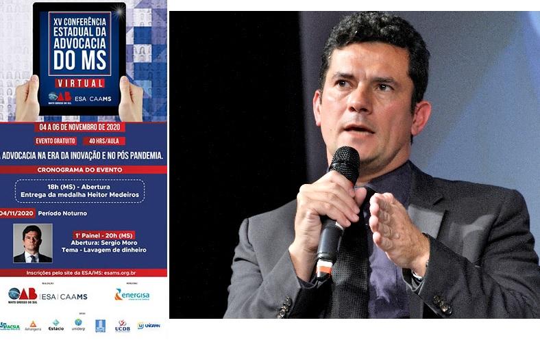 Conferência Estadual de Advocacia terá Moro como palestrante convidado da OAB-MS