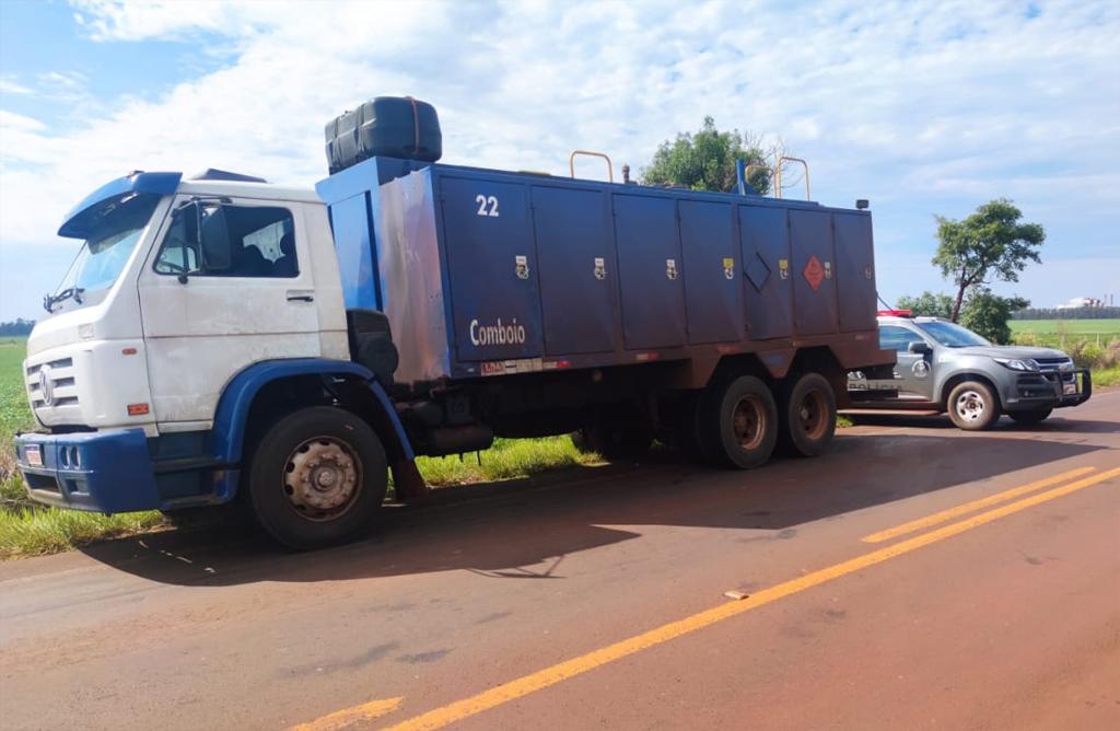 Caminhão foi apreendido em rodovia perto de Laguna Carapã e iria para Campo Grande
