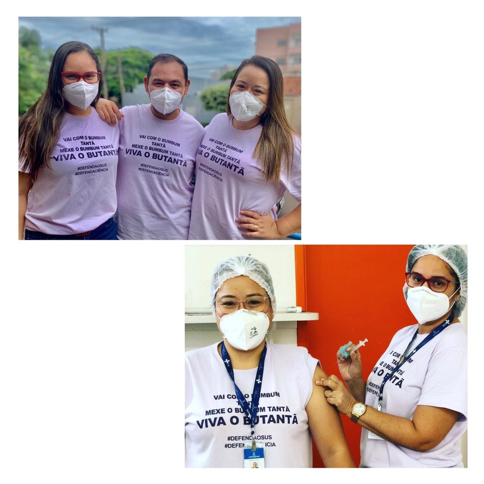 A ideia surgiu entre um grupo de servidores da Sesau e se espalhou entre os enfermeiros que fazem a a testagem do coronavírus, da Unidade 26 de Agosto, no centro de Campo Grande.