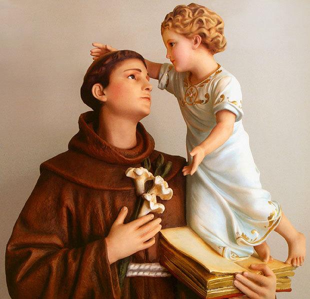 Resultado de imagem para santo antonio menino jesus