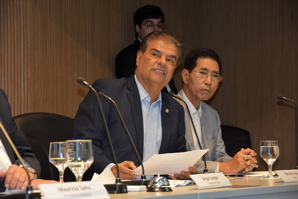 O senador Nelsinho Trad viabilizou a vinda dos representantes asiáticos.