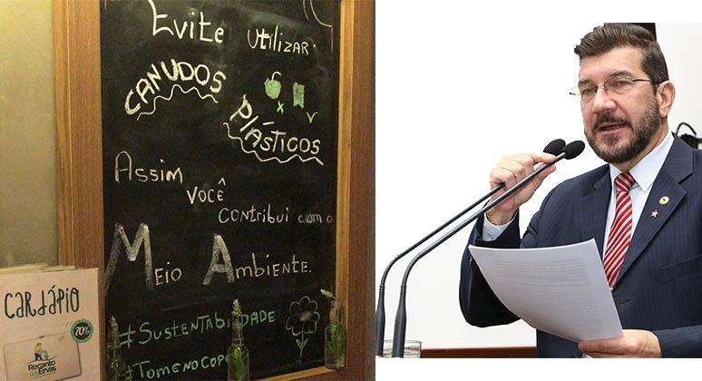 Restaurante em Campo Grande faz campanha contra canudo plástico, e projeto de Kemp avança na Assembleia